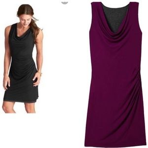 Athleta Inverse Reversible Purple Grey Gathered S